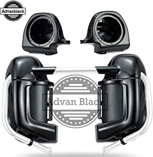 Advanblack Midnight Pearl Lower Vented Fairings 6.5 inch Speaker Box Pods Fit for Harley Touring Street Glide Road King Electra Glide 1983-2013