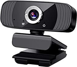 1080P Webcam with Microphone, Mersuii USB Computer Web Cam Camera Plug and Play Compatible with Windows, Mac Os, Android, ...