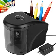 Electric Pencil Sharpener, Power Adapter(Include)/Battery Operated Pencil Sharpener with..