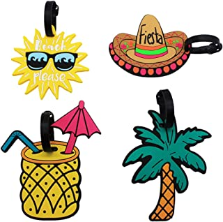 funky suitcase tags