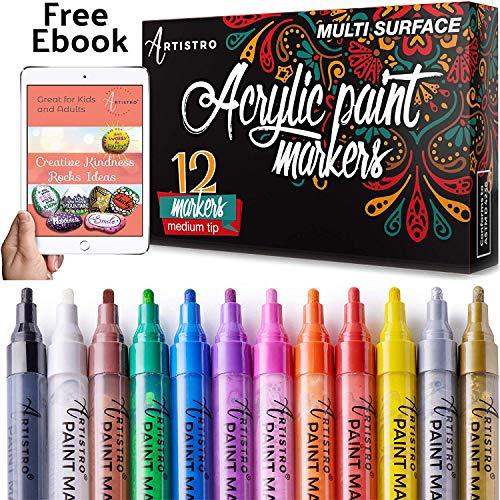 Paint Pens for Rock Painting, Ceramic, Porcelain, Glass, Wood, Fabric, Canvas....
