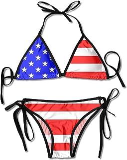 Granbey USA Flag Bikini American Flags Bathing Suit Sexy America Triangle Bikini Set Hot Fashion Rebel Flag Swim Wear Red ...