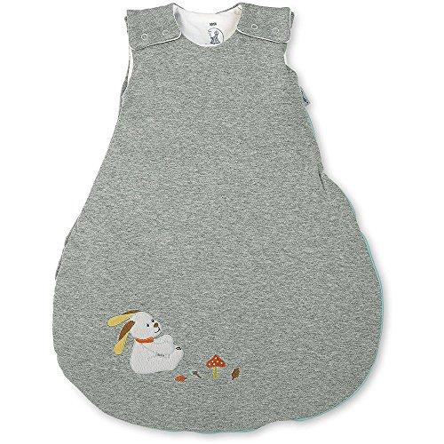 Sterntaler slaapzak voor baby's, ritssluiting en knoppen, maat: 50/56, bosdis, grijs