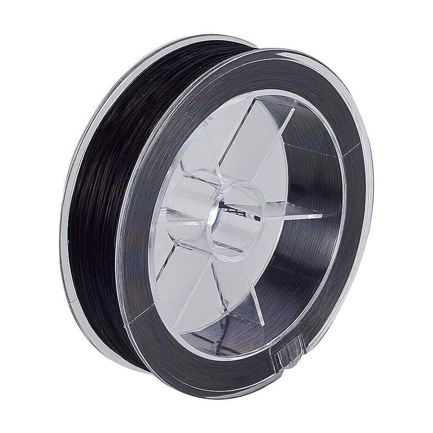 BENECREAT 100m 0.8mm Elastic Stretch Fiber Thread for Bead Jewelry Crafts (Black)