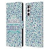 Head Case Designs Accesorios Navidad Bendita Carcasa de Cuero Tipo Libro Compatible con Samsung Galaxy S21+ 5G