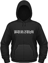 Burzum Hoodie Aske Band Logo Official Mens Black Zipped