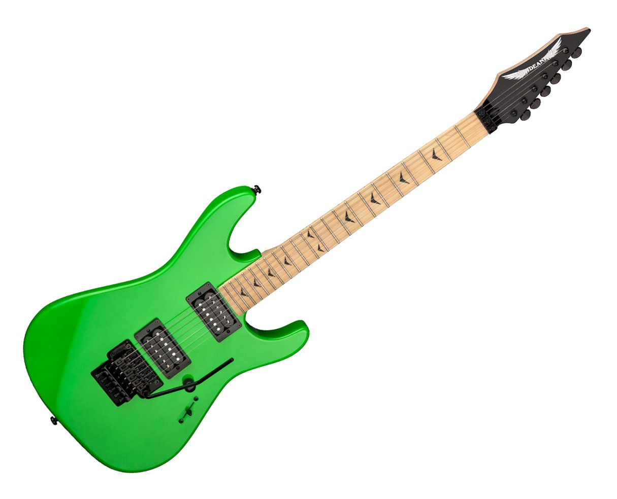 Cheap Dean Guitars Custom Zone II Floyd 6-String Electric Guitar - Nuclear Green Black Friday & Cyber Monday 2019
