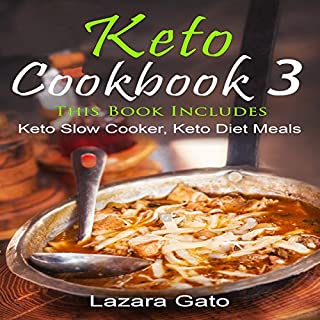 Keto Cookbook 3 audiobook cover art