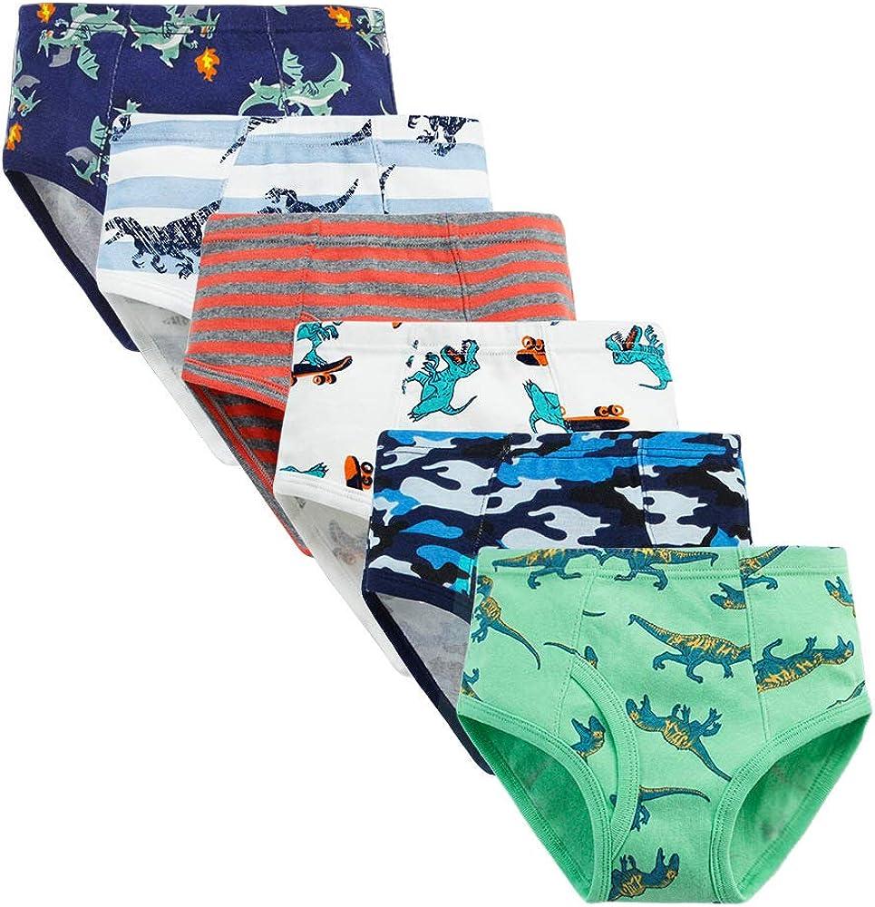 GZLCWL Boys Dinosaur Panties ,Toddler Underwear Boys,100% Cotton Little Boys Briefs Soft Dinosaur Truck Toddler Underwear