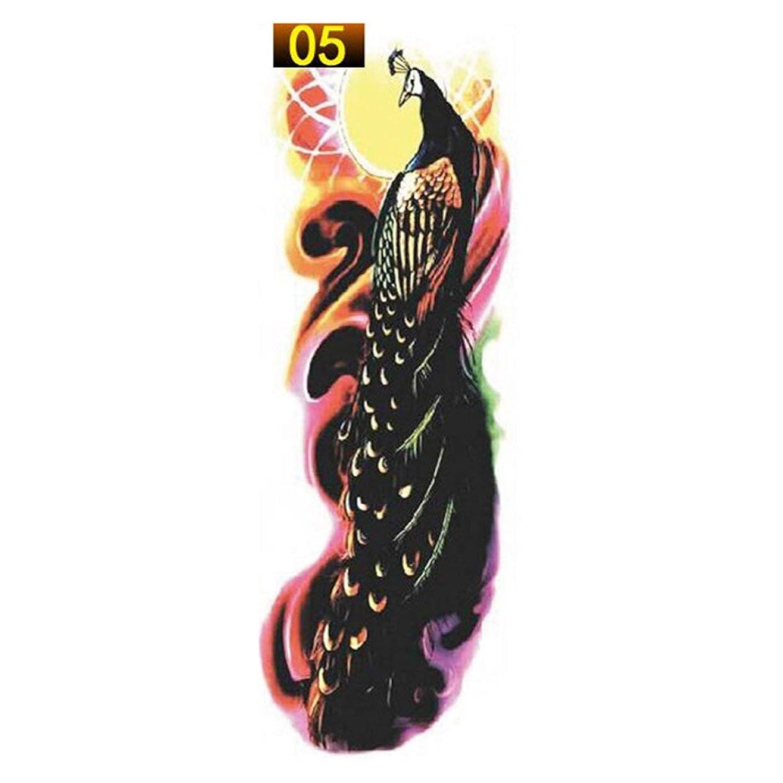 縫う治療木製1ピースフルアームフラワータトゥーステッカー防水一時的な入れ墨スリーブ男性女性ボディペイント水転写フェイクタトゥースリーブ-5