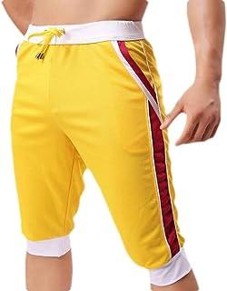 Men Casual Sports Pants Summer Thin Section Pants Capri Pants Shorts