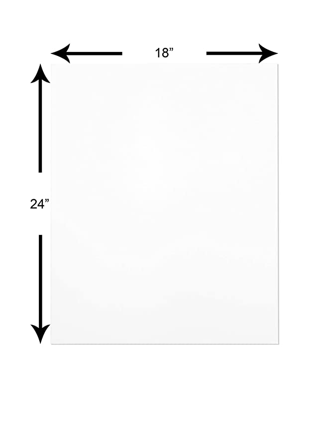 """The Display Guys ~ Pack of 25,18""""x24"""" Deluxe White Both Sides Picture Backing Boards"""