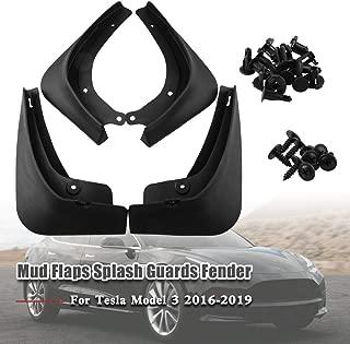 Ruien Mud Flaps Splash Guards Fender for Tesla Model 3 2016-2019 (Set of Four)