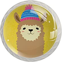 AITAI Alpaca gele ronde kast knop 4 Pack trekt handgrepen