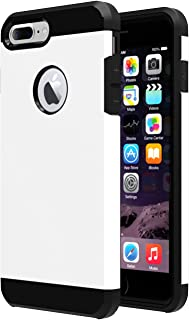 iPhone 7 plus Case,iBarbe Slim Extreme Heavy Duty Rugged Hybrid Impact 2 Color Shockproof Soft Rugged Hard PC Anti-slip Cover Armor Shock Absorption Protection for Apple iPhone7 5.5 plus(white/black)