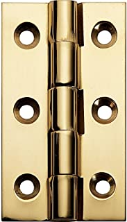 Hinge 2-1//2 X 1-3//8 Fixed Pin Narrow Polished Brass Fixed Pin
