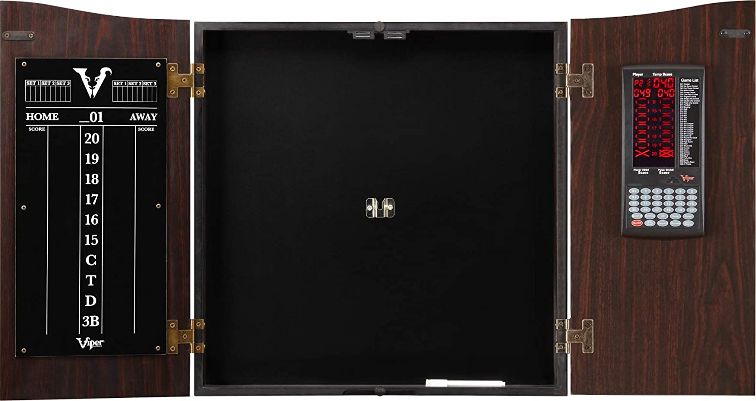 Viper Vault Deluxe Dartboard Cabinet with Integrated Pro Score a
