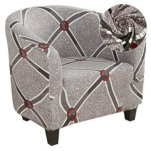 ChicSoleil Sesselbezug Sesselüberwurf Sesselhusse Sesselschoner mit modern Muster Elastisch Stretch Husse für Clubsessel Loungesessel Cocktailsessel