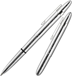 Fisher Space Pen Bullet Brushed Chrome Ball Pen With Clip Fs400brcl