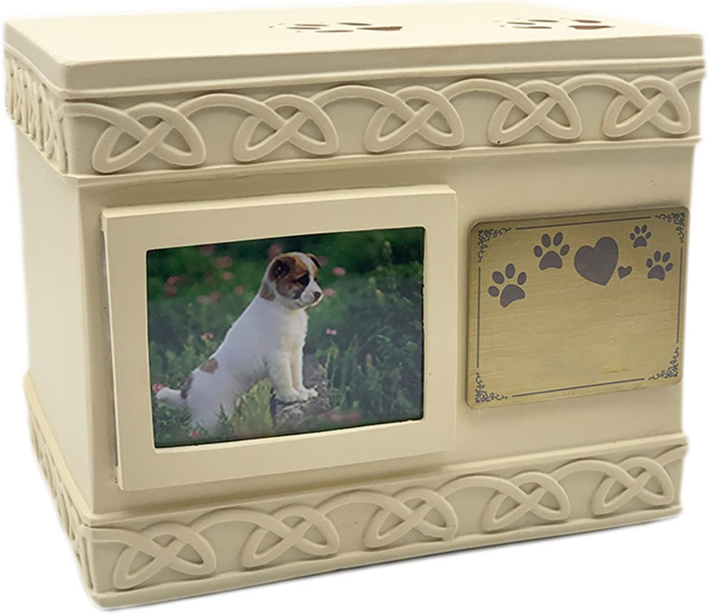 Urnas para Cenizas Mascotas, Ataúd Conmemorativo De Madera, Urnas Para Mascotas para Perros, Gatos, Caja para Urnas Funerarias para Mascotas Caja De Cremación para Mascotas con Grabado Personalizado