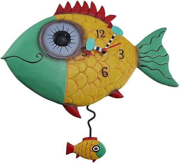 艾伦设计大眼鱼腥味摆挂钟鱼