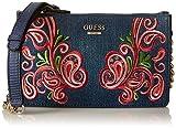 Guess - Arianna, Bolsos de mano Mujer, Blu (Denim), 3.5x13.5x22.5 cm (W x H L)