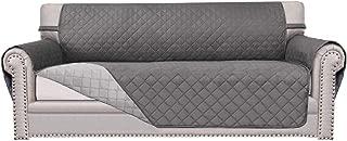 Easy-Going Sofa Slipcover Reversible Sofa Cover Furniture Protector Anti-Slip Foams Couch Cover Water Resistant Elastic Straps PetsKidsChildrenDogCat(Oversized Sofa,Gray/Light Gray)
