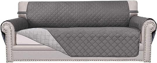 Easy-Going Sofa Slipcover Reversible Sofa Cover Furniture Protector Couch Cover Elastic Straps PetsKidsChildrenDogCat(Oversized Sofa,Gray/Light Gray)