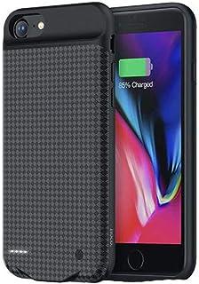 Capa Carregadora Iphone 6 Plus 6s Plus 7 Plus 8 Plus de 3800Mah Hoco com Película Premium 3D com Bordas, Hoco, BW6A, Preto