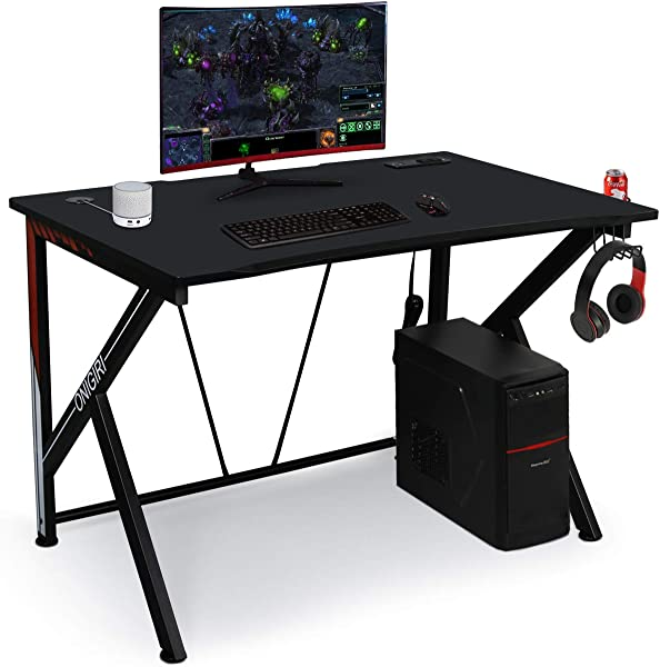 45 66 Gaming Desk E Sports Computer Desk Table With Large Size Ergonomic Surface And Heavy Duty Construction For Home Or Office Computer Workstation