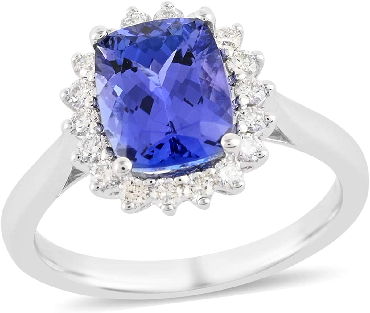 Shop Ranking TOP10 LC RHAPSODY Inventory cleanup selling sale Genuine Diamond Birthday Wh 950 Ring Gifts Halo