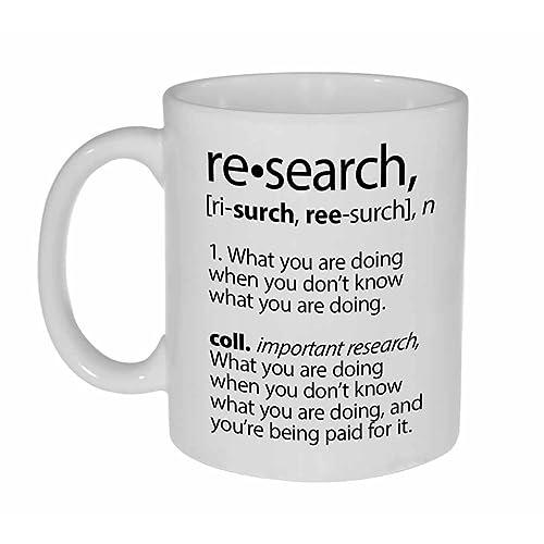 c63d7b45ae3 Research Definition Funny Coffee or Tea Mug