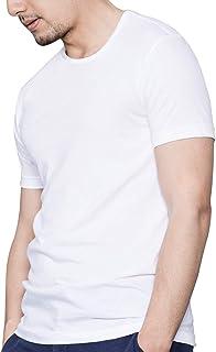 Crew Neck Plain Short Sleeve T Shirts for Men
