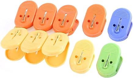 DealMux ropa pl/ásticos secado Peg Pinza abrazadera del clip 20pcs color clasificado
