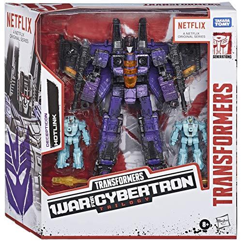 Transformers Netflix War for Cybertron trilogi Voyager Class Hotlink Battle 3-pack med värmespänne och halsbränna