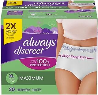 Always Discreet Always Discreet for Sensitive Skin Postpartum Incontinence Underwear Xl Maximum Absorbency, 30 Count