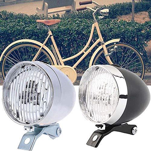 WHK Fahrrad Frontlicht, Retro Vintage Nacht Fahrradlampe 3 LED Fahrrad Frontlicht Fahrrad Licht Retro Scheinwerfer