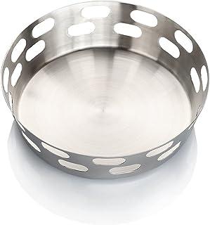 SAGER® Stainless Steel Round Bread Basket/Roti, Chapati, Naan Tokri/Fruit Bowl - 19 cm Diameter, Set of 1