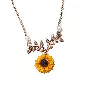 Liobaba Moda creativa mujeres collar girasol colgante elegante collar joyas