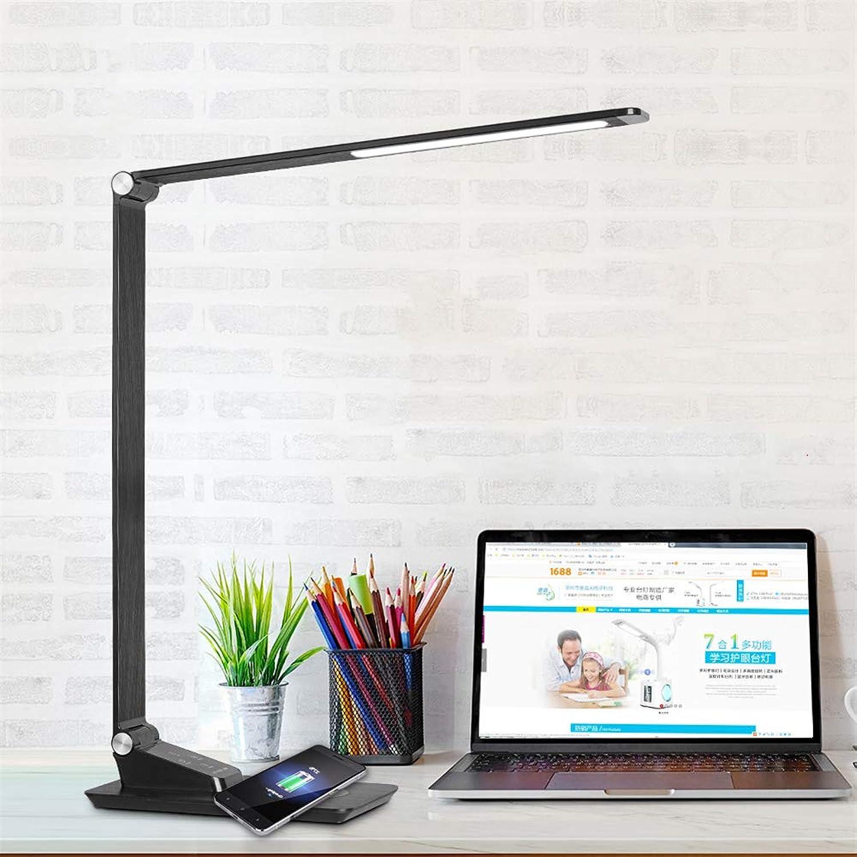 ZOYNZ Intelligente Drahtlose Aufladenschreibtischlampe USB, Das Das Metallklappbüro Lernt, Führte Augenschutztischlampe Aufldt