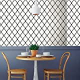 RoomMates Modern Trellis Peel and Stick Wallpaper,Black