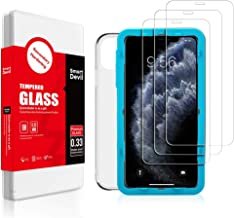 SMARTDEVIL 3 Pack Screen Protector Foils for Apple iphone 11 Pro Protective Tempered Glass Film for 5.8 Inch Screen with Installation Tool, Phone Case,High Definition 9H Hardness Anti-Scratch (For Apple iPhone 11 Pro)