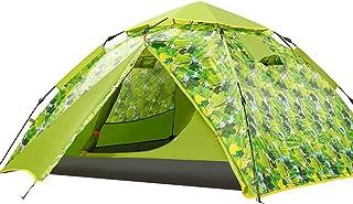YDD Camping automatisk vattentät tält Markise 3-4 personer Double Door Automatic Tält Space Large förpackad grön – bärväska