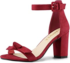 Allegra K Women's Chunky Heels Ankle Strap Sandals