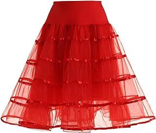 Lazzboy Donna tutù Gonna Tulle Petticoat Ballet Danza Organza Layred Bubble 38-50