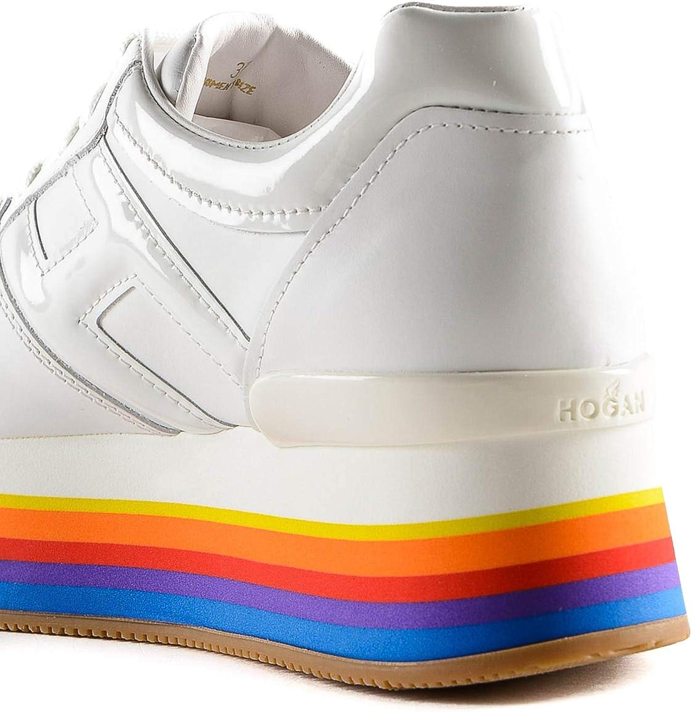 Hogan Maxi H222 Rainbow Platform Sneakers, Bianco (bianco), 36 EU ...