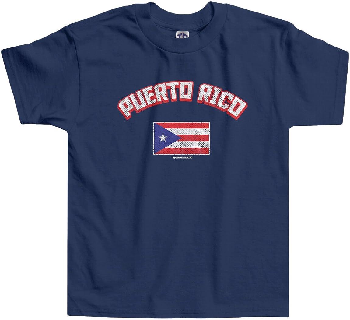 Threadrock Little Boys' Puerto Rico Puerto Rican Flag Toddler T-Shirt