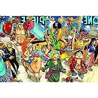 木製パズル1000 PCS、道路ワンピース漫画アニメ子供大人解凍パズルジグソーパズルグレープフルーツ (Color : 2)