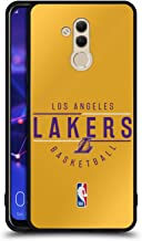 Official NBA Logotype 2018/19 Los Angeles Lakers Black Hybrid Glass Back Case Compatible for Huawei Mate 20 Lite
