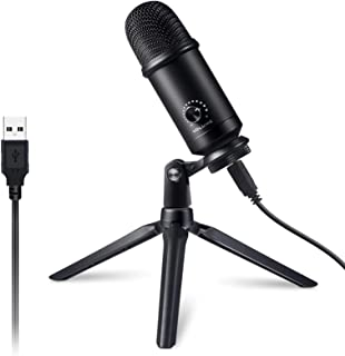 Victure USB Microphone Kit for Computer, Metal Condenser Recording Mic for PC Laptop MAC or Windows Cardioid Studio Record...